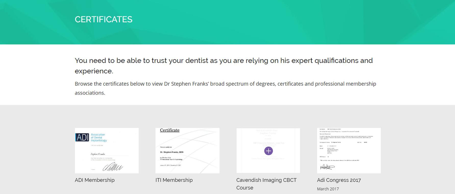 franks-dental-certificates