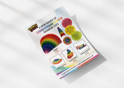 Rainbow toys flyer