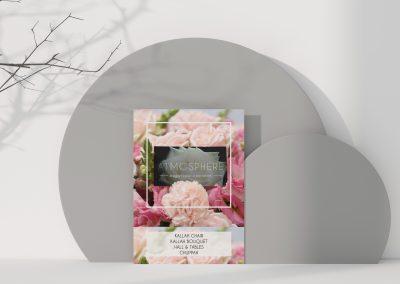 Atmosphere Flowers Table Card